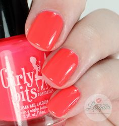 Girly Bits You're My Hooper Hero. Swatches by Love For Lacquer