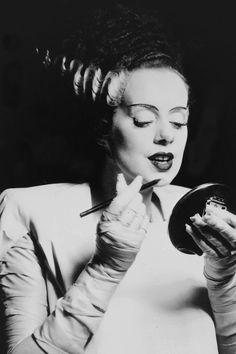 vintagegal:  Elsa Lanchester on the set of The Bride of Frankenstein (1935)