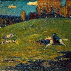 Kandinsky / The blue Rider / 1903 #Wassily #Kandinsky #weewado #wassily #kandinsky #landscape #scenery