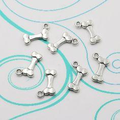 12pcs Tibetan Silver 3D Charm Alloy Dog Bones Jewelry Findings Charms Pendants #Unbranded