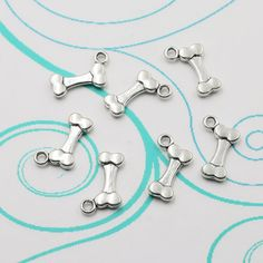 12pcs Tibetan Silver 3D Charm Alloy Dog Bones Jewelry Findings Charms Pendants #Unbranded