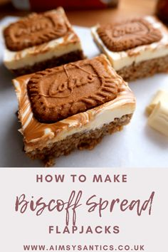 Biscoff Recipes, Baking Recipes, Cake Recipes, Dessert Recipes, Desserts, Baking Ideas, Weetabix Cake, Flapjack Recipe, Biscoff Spread