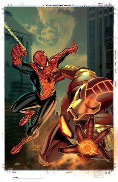 Spider-Man & Iron Man - pencils: David Williams, color: Roboworks.deviantart.com