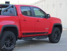 """2016-2017 Chevy Colorado """"RAMPART"""" Lower Rocker Panel Accent Factory Bodyside Style Vinyl Graphics Stripes Kit Vinyl Graphic Stripe Decal Kits Vehicle Specific Accent Striping Decals Packages 
