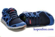 Kopen goedkoop Schoenen dames nike free 3.0 v3 (kleur:flirt,binnen-blauw;logo-rood;zool-wit) online in nederland.