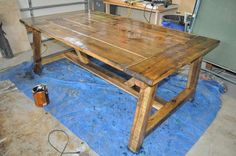 In this tutorial and video DIY Pete shows you how to build a beautiful farmhouse style dining table for your home.
