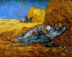 Rest Work (after Millet) - Vincent van Gogh- Completion Date: 1890 Place of Creation: Saint-rémy-de-provence, France Style: Post-Impressionism Genre: genre painting Technique: oil Material: canvas Gallery: Musée d'Orsay, Paris, France