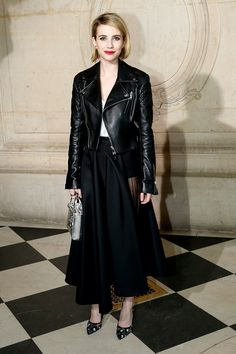 Front row semanas de la moda Paris otono invierno 2014 Emma Roberts