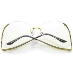 bc4da453dec Gold Clear Women s Sunglasses
