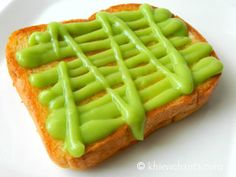 Pandan Toast made with a sweet bread