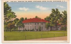 Judd Hall, the dormitory where I lived for two years.  Was Spartanburg Junior College, now Spartanburg Methodist College.