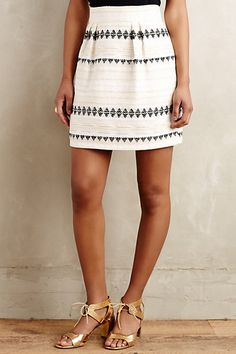 Goldfleck Mini Skirt  #anthropologie
