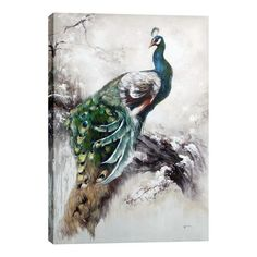 Hobbitholeco Peacock Canvas Art