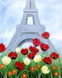 Картинки по запросу easy paris canvas painting