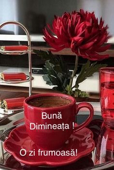 Good Morning Coffee, Sunday Morning, Coffee Cafe, Moscow Mule Mugs, Beautiful Flowers, Tea Cups, Tableware, Desserts, Spanish Quotes