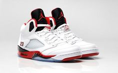 separation shoes d52d7 09940 Air Jordan V Retro Fire Red Black White Jordan V, Nike Air Jordan