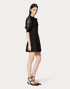 Discover the Stretch Viscose and Heavy Lace Dress for Woman. Find the entire collection at the Valentino Online Boutique and shop designer icons to wear. Runway Fashion, High Fashion, Fashion Trends, Italian Fashion Designers, Fashion Collage, Online Boutiques, Fashion Sketches, Lace Dress, Fashion Dresses