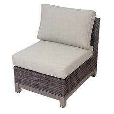 The Ann Arbor Armless Chair Is A Single Wicker Chair That Works As A  Perfect Addition