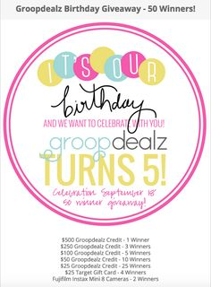 The Beauty Pirate: Groopdealz Birthday Celebration - discount AND giv...