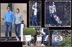 April 21, 2014 - Kate, Will, and George enjoy a day off during their tour