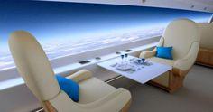 primera clase en aviones transparentes