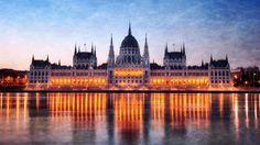 Hungary Budapest, Parliament building at night, Danube river reflection lights Monuments, Capital Of Hungary, Photo Voyage, Danube River, Cities In Europe, Travel Europe, Most Beautiful Cities, Amazing Places, Wonderful Places