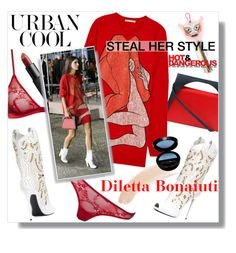 """Steal Her Style - Diletta Bonaiuti"" by watereverysunday ❤ liked on Polyvore featuring J.W. Anderson, Maison Close, Christopher Kane, Giuseppe Zanotti, NARS Cosmetics, Shourouk, Topshop and Giorgio Armani"