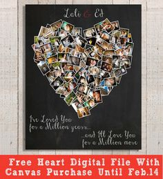 Valentine's Day Gift - Romantic Gift - Personalized Gift - Anniversary Gift for Her - Gift for Him - Free Shipping - FREE HEART Digital File on Etsy, $25.00