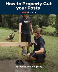 In this video we will be teaching you on how to properly cur your post for your backyard floating deck using tuffblocks. This Floating Deck was made possible by using Tuffblocks. TuffBlocks have an ultra low profile of only 2 inchs from the ground to the base where the joist or post sits. If you want to know more about our product please click the video.