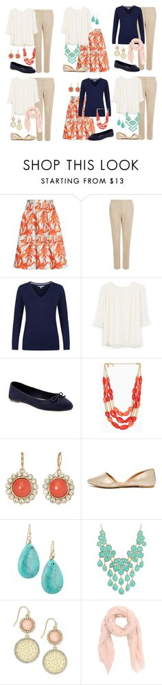 """""""Teacher Outfits on a Teacher's Budget 200"""" by allij28 ❤ liked on Polyvore featuring H&M, Monsoon, MANGO, Old Navy, Monet, Qupid, Lydell NYC, Forever 21 and INC International Concepts"""