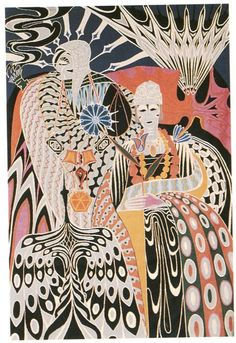 Papa Ibra Tall, Couple Royal, Wool Tapestry, 1966