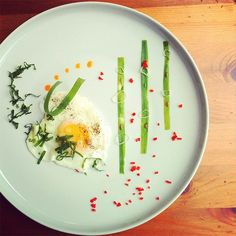 """""""Sunny-side up egg with green onion, red chili and chili oil"""" - Indonesian Food - Dade Akbar"""
