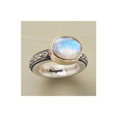LIGHT OF THE MOONSTONE RING - Single Stone - Rings - Jewelry | Robert... ($258) via Polyvore