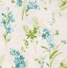 Spring Meadow Blue wallpaper by Albany