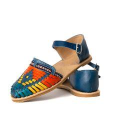 73a7e54981f1 Classic Authentic Women s Mexican Huarache Sandals Strap and Adjustable  Buckle - BLUE Multicolor Clo