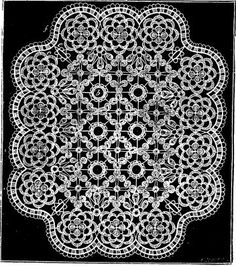 Vintage Crochet Bread Cloth or Doily Pattern - Octagon, Shape, Doily