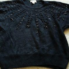 Beaded sweater Lambswool and angora Carducci Sweaters Crew & Scoop Necks