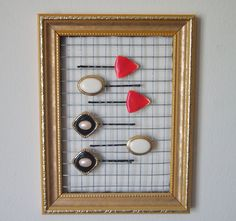 Chicken Wire Frame  Holds Hair Accessories and by ThriftyPins, $22.00