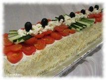 Kreikkalainen kasvisvoileipäkakku Savoury Baking, Bread Baking, Baking Recipes, Cake Recipes, Healthy Recipes, Sandwich Cake, Sandwiches, Sushi, Appetizers