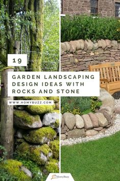 19 Garden Landscaping Design Ideas with Rocks and Stone - HomyBuzz