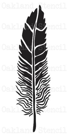 Feather STENCIL **7 Sizes to Choose From** for Painting Signs, Wood, Fabric, Canvas, Scrapbook, Airb Stencil Patterns, Stencil Designs, Feather Stencil, Diy Wood Box, Airbrush Tattoo, Pinstriping Designs, Number Stencils, How To Make Stencils, Wood Burning Patterns