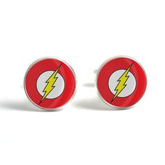 Flash Cufflinks - Novelty Flash Superhero Cufflinks for Men