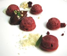 Daniel Zeal's red velvet cheesecake with minted chocolate pudding and macadamia snow - February 29 (Photo by Lisa Ozag)