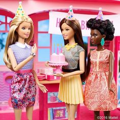 And share your favorite Barbie memory below. Barbie Birthday, Barbie Party, Doll Party, Birthday Cake Girls, Happy Birthday, Barbie Life, Barbie House, Barbie World, Doll Clothes Barbie