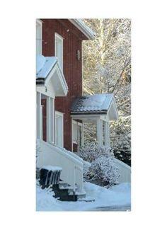 Haus im Winter Motivdruck Papier