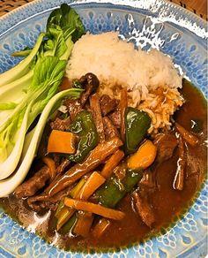 Biff med bambuskott i stark sås – Så god Keto Chili Recipe, Curry, Asian Recipes, Ethnic Recipes, Food Decoration, Sugar And Spice, Wok, Food Inspiration, Love Food