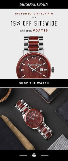 Our Rosewood Classic Watch is love at first sight   Enjoy 15% OFF for your Valentine w/ code VDAY15 + Receive a Free Gift w/ Purchase!