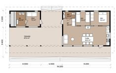 Isokari - Pluspuu Talot Small House Design, Cabin Plans, Small House Plans, Residential Architecture, Tiny House, Floor Plans, Cottage, How To Plan, Home Decor