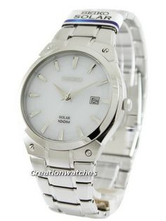 Seiko Solar SNE339P1 SNE339P SNE339 Men's Watch Rolex Watches, Watches For Men, Seiko Solar, Bracelet Watch, Silver, Accessories, Men's Watches, Money, Jewelry Accessories