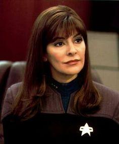 Star Trek : Nemesis - Marina Sirtis as Counselor Deanna Troi. Star Trek 1, Star Trek Cast, Star Trek Series, Star Trek Enterprise, Star Trek Voyager, Marina Sirtis, Akira, Nemesis Prime, Science Fiction
